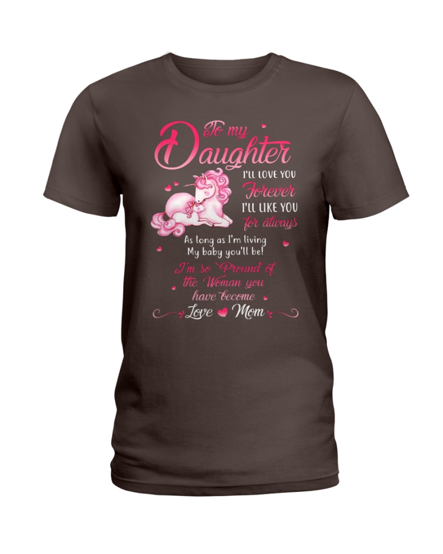 Unicorn I Will Love You Forever Mug Ladies T-Shirt