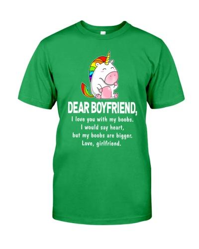 Dear Boyfriend Love You With My Boobs Mug