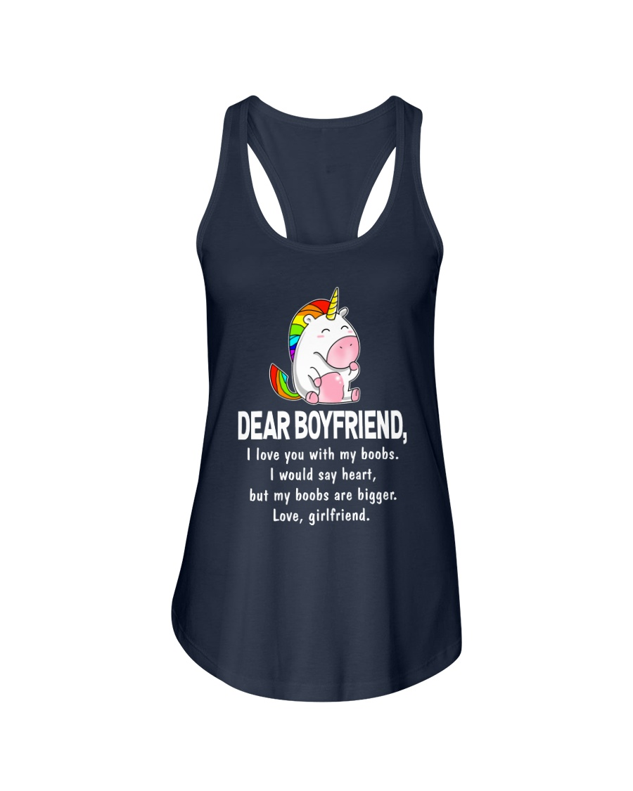 Dear Boyfriend Love You With My Boobs Mug Ladies Flowy Tank