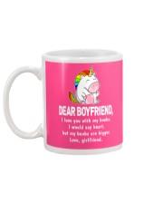 Dear Boyfriend Love You With My Boobs Mug Mug back