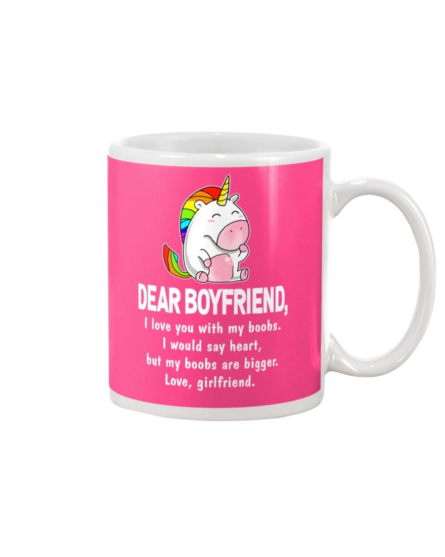 Dear Boyfriend Love You With My Boobs Mug Mug