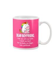 Dear Boyfriend Love You With My Boobs Mug Mug front