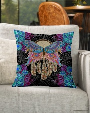 "Yoga Pillow Butterfly Indoor Pillow - 16"" x 16"" aos-decorative-pillow-lifestyle-front-04"
