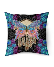 "Yoga Pillow Butterfly Indoor Pillow - 16"" x 16"" back"