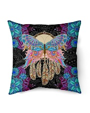 "Yoga Pillow Butterfly Indoor Pillow - 16"" x 16"" front"