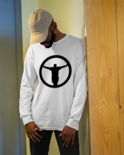The Outlet - Black and White Collection Long Sleeve Tee apparel-long-sleeve-tee-lifestyle-front-13