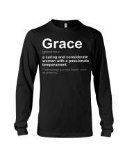 Grace - First Name Definition Long Sleeve Tee thumbnail