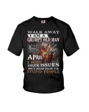I Am A Grumpy Old Man I was Born in April T-Shirt Youth T-Shirt thumbnail
