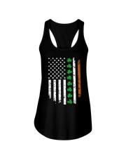 Patrick's Day Irish American Flag Shirt Ladies Flowy Tank thumbnail