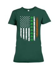 Patrick's Day Irish American Flag Shirt Premium Fit Ladies Tee thumbnail