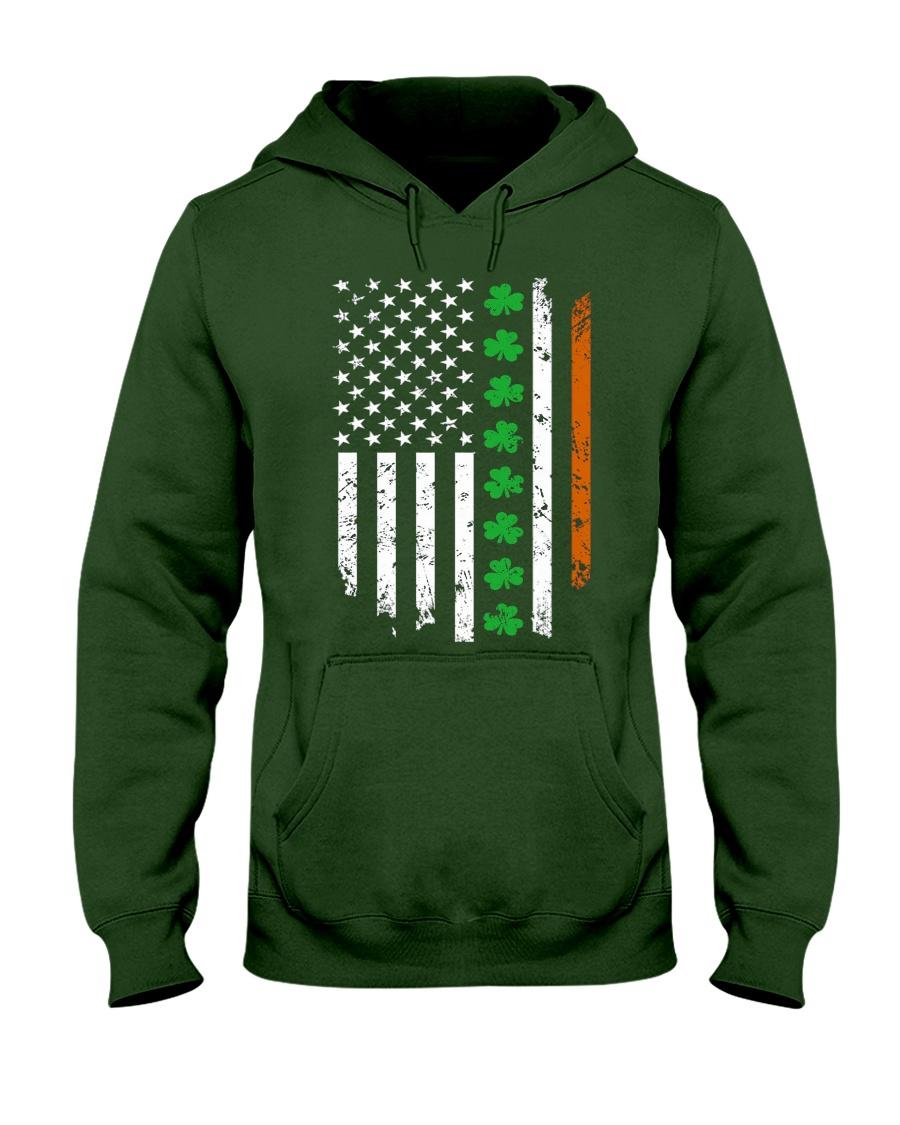 Patrick's Day Irish American Flag Shirt Hooded Sweatshirt