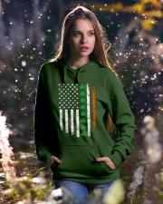 Patrick's Day Irish American Flag Shirt Hooded Sweatshirt lifestyle-holiday-hoodie-front-5