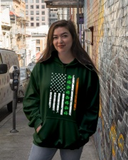 Patrick's Day Irish American Flag Shirt Hooded Sweatshirt lifestyle-unisex-hoodie-front-1