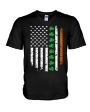 Patrick's Day Irish American Flag Shirt V-Neck T-Shirt thumbnail