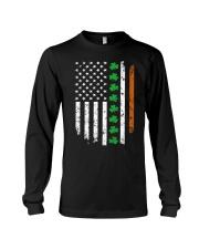 Patrick's Day Irish American Flag Shirt Long Sleeve Tee thumbnail