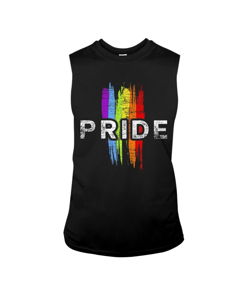 Gay Pride Rainbow Vintage Transgender LGBT Shirt Sleeveless Tee