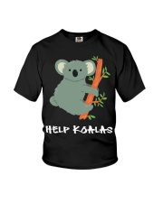 Help Koalas - Save Koala Australian Youth T-Shirt thumbnail