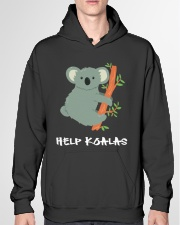 Help Koalas - Save Koala Australian Hooded Sweatshirt garment-hooded-sweatshirt-front-04