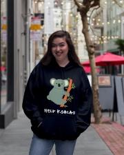 Help Koalas - Save Koala Australian Hooded Sweatshirt lifestyle-unisex-hoodie-front-2