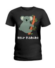 Help Koalas - Save Koala Australian Ladies T-Shirt thumbnail