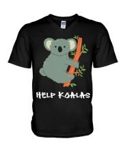 Help Koalas - Save Koala Australian V-Neck T-Shirt thumbnail