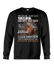 I Am A Grumpy Old Man I was Born in January Crewneck Sweatshirt thumbnail