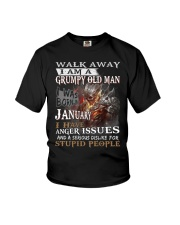 I Am A Grumpy Old Man I was Born in January Youth T-Shirt thumbnail