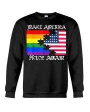 Make America Pride Again Flag Pride LGBT Gift Tee  Crewneck Sweatshirt thumbnail