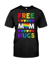 Freemom hugs tshirt rainbow heart LGBT pride mont Classic T-Shirt thumbnail