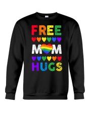 Freemom hugs tshirt rainbow heart LGBT pride mont Crewneck Sweatshirt thumbnail