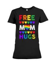 Freemom hugs tshirt rainbow heart LGBT pride mont Premium Fit Ladies Tee thumbnail