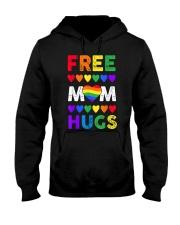Freemom hugs tshirt rainbow heart LGBT pride mont Hooded Sweatshirt thumbnail