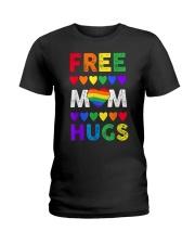 Freemom hugs tshirt rainbow heart LGBT pride mont Ladies T-Shirt thumbnail