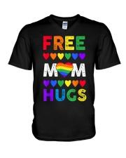 Freemom hugs tshirt rainbow heart LGBT pride mont V-Neck T-Shirt thumbnail