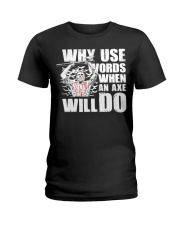 Norse Viking Gift For A Viking Warrior Clothing Ladies T-Shirt thumbnail