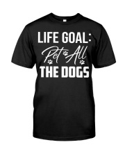 Life Goal Pet All The Dogs Pet Lover Classic T-Shirt thumbnail