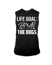 Life Goal Pet All The Dogs Pet Lover Sleeveless Tee thumbnail