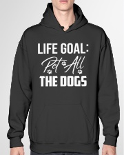Life Goal Pet All The Dogs Pet Lover Hooded Sweatshirt garment-hooded-sweatshirt-front-04
