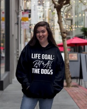 Life Goal Pet All The Dogs Pet Lover Hooded Sweatshirt lifestyle-unisex-hoodie-front-2
