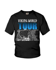 Viking World Tour Gift For A Viking Warrior Youth T-Shirt thumbnail