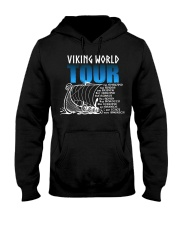 Viking World Tour Gift For A Viking Warrior Hooded Sweatshirt front