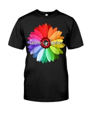 LGBT Pride Love Is Love Daisy Rainbow T-Shirt Premium Fit Mens Tee thumbnail