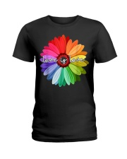 LGBT Pride Love Is Love Daisy Rainbow T-Shirt Ladies T-Shirt thumbnail