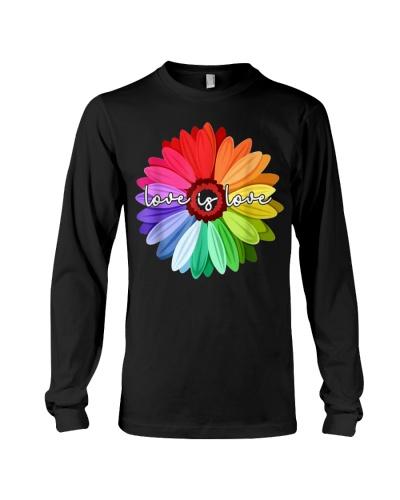 LGBT Pride Love Is Love Daisy Rainbow T-Shirt