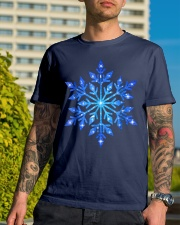 Snowflake T-Shirt Winter Christmas Frozen Snow  Premium Fit Mens Tee lifestyle-mens-crewneck-front-8