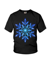 Snowflake T-Shirt Winter Christmas Frozen Snow  Youth T-Shirt thumbnail
