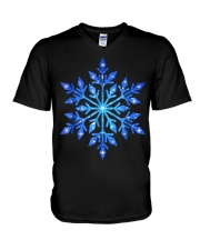Snowflake T-Shirt Winter Christmas Frozen Snow  V-Neck T-Shirt thumbnail