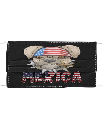 Merica Pit Bull Dog American Flag 4Th Of July