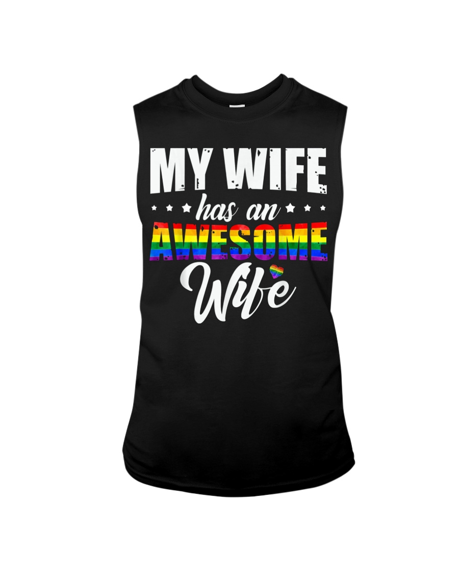 My Wife Has An Awesome Wife - Lesbian Wedding LGBT Sleeveless Tee