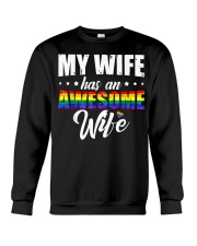 My Wife Has An Awesome Wife - Lesbian Wedding LGBT Crewneck Sweatshirt thumbnail